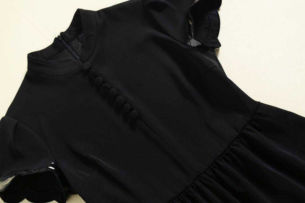 Piste Turn Collor Printemps Courtes Marque Couleur Patchwork Solide Pu Manches Designer 2019 Femelle Casual Robe Stand Été X0WqBXwTr