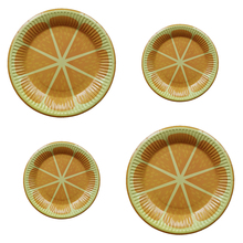 10PCS/Lot Paper Plate for Even Party Disposable Tableware Lemon Printed Summer Decoration festa anniversaire