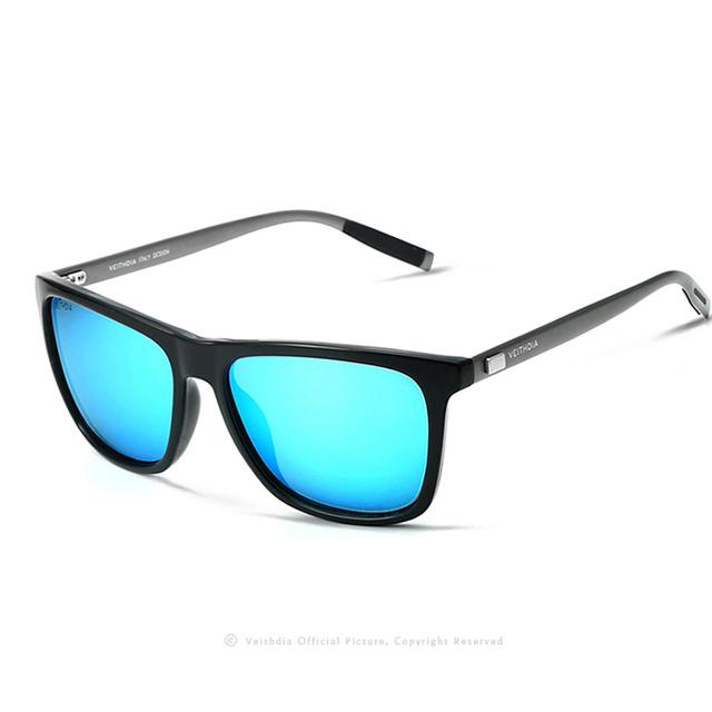 VEITHDIA Unisex Retro Aluminum+TR90 Polarized Mens Sunglasses Brand Designer mirror Vintage Driving Sun Glasses for Women shades
