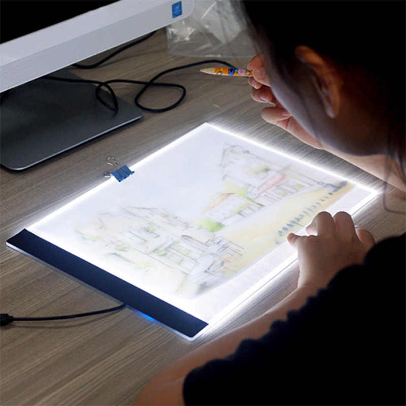 light pad diamond painting A4 LED Pad USB Cable Dimmable Ultra Thin led light box lichtbak voor diamond painting