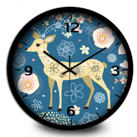 Simple Cute Creative Modern Living Room Clock Retro Wooden Wall Clock Silent Relogio Parede Turntable Needles Clocks 60A096