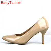 Armoire New Sexy Black Naked Red High Heels Women Nude Glossy Pumps Ladies Shoes AA 3