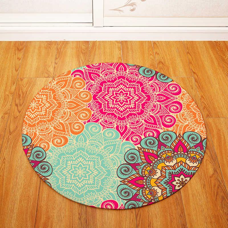 Геометрический круглый ковер детский игровой тент тренажерный зал ковер спальня гостиная кофе Ковер Напольный коврик/детский коврик для ползанья