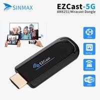 Sinmax ezcast 5g Televisiones inteligentes dongle miracast HDMI receptor espejo TV AirPlay DLNA para Android IOS ventana os PK caja androide
