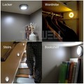 4 Шт./лот Магнитный LED motion sensor night light бра с Инфракрасный ИК-датчик для спальни прихожей шкаф лестничные клетки