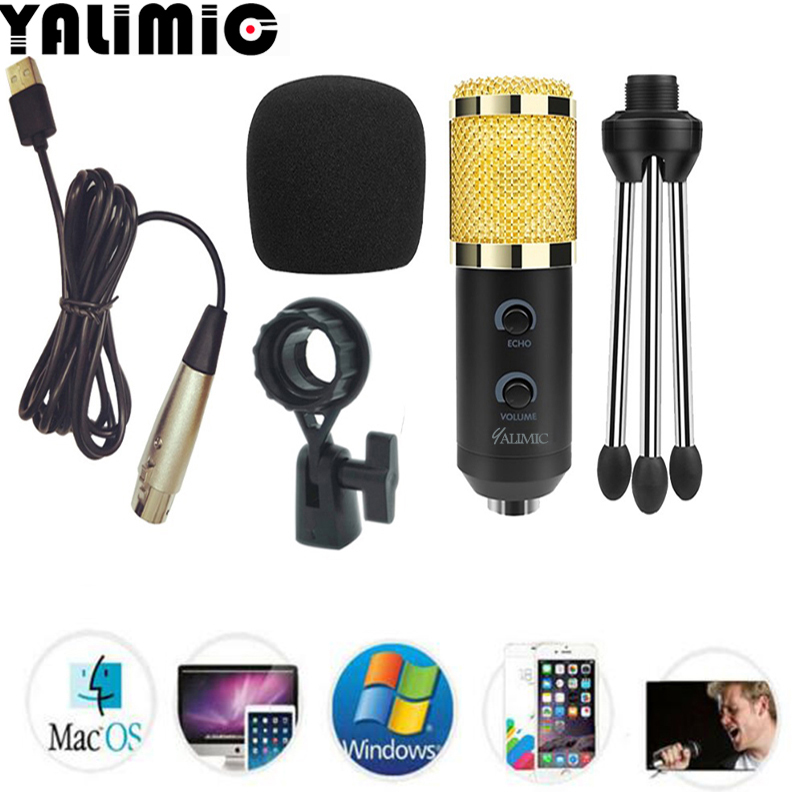 BM 900 USB Microphone For Computer Condenser Studio Karaoke Mic For PC free shipping
