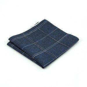 Image 5 - HUISHIคุณภาพสูงลายผ้าฝ้ายสแควร์สำหรับผู้ชายชุดผ้าฝ้ายผ้าเช็ดหน้าธุรกิจHankyสีทึบผ้าเช็ดหน้า