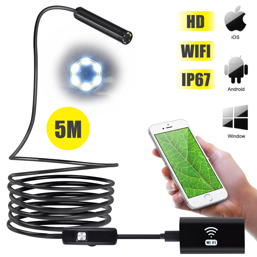 8mm Lentille Antscope Wifi Endoscope Caméra 720 P Endoscope Tube Dur Softwire pour iOS Android Caméra LCC77