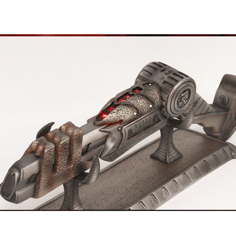50CM Predator Arnold Schwarzenegger Plasma Pistol 1:1 Ion Gun With LED Light Resin Action Figure Collectible Model Toy L1573