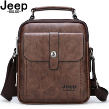 JEEP BULUO Brand High Quality Men Leather Bags Large Capacity Male Messenger Bag Fashion Business Crossbody Shoulder Bag For Man jeep buluo brand high quality pu leather cross body messenger bag for man ipad famous men shoulder bag casual business tote bags