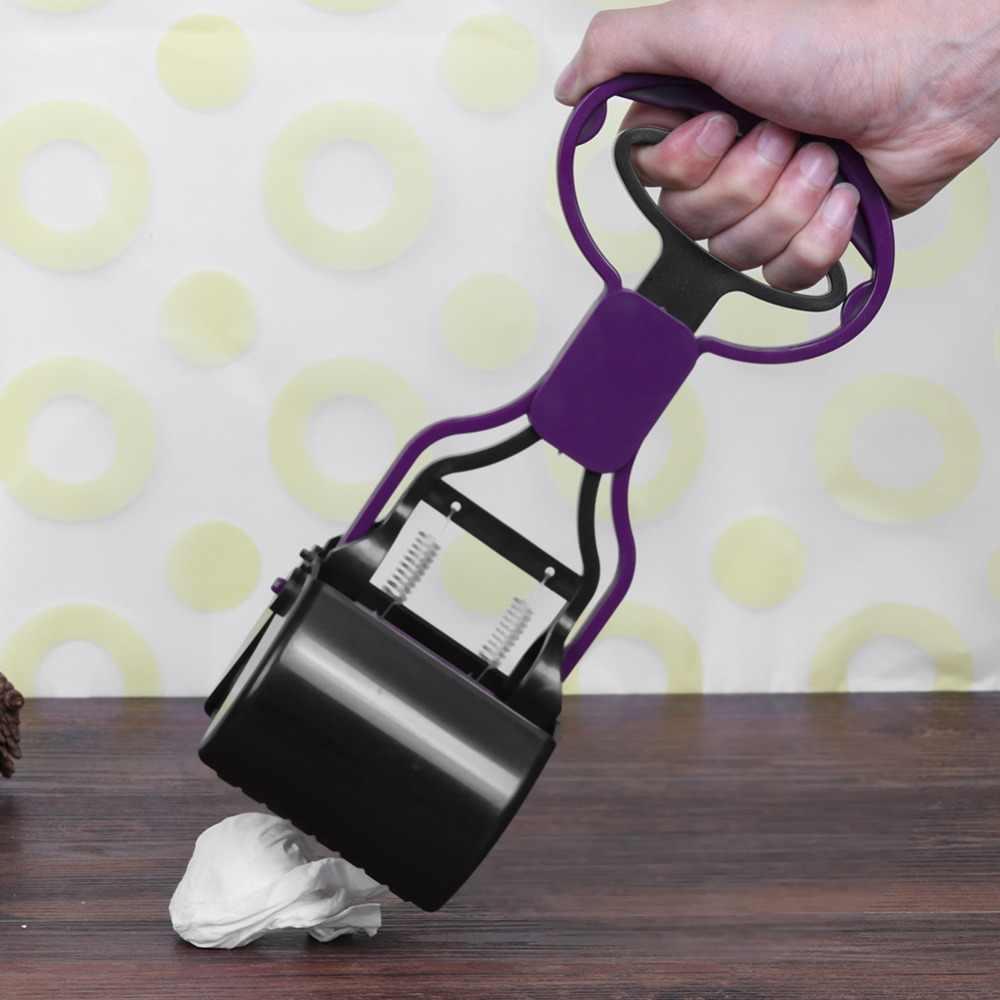 Portátil cão de estimação gato pooper punho longo mandíbula cocô colher limpador pegar resíduos animais para o cão suprimentos ao ar livre ferramenta limpeza