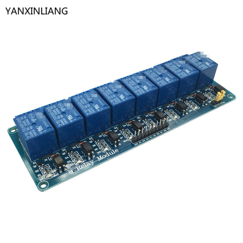 8-Channel Relay DC5V with light coupling protection expansion board have a single way 8 road relay module DC 5v For Arduino стоимость