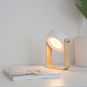 Image 4 - NEW Creative Wooden Handle Portable Lantern Lamp Telescopic Folding Led Table Lamp Charging Night Light Reading Lamp