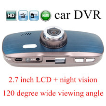 Buy night vision Car DVR H200 HD Camera digital Video Recorder 2.7 inch auto camcorder dash cam 120 degree wide viewing angle