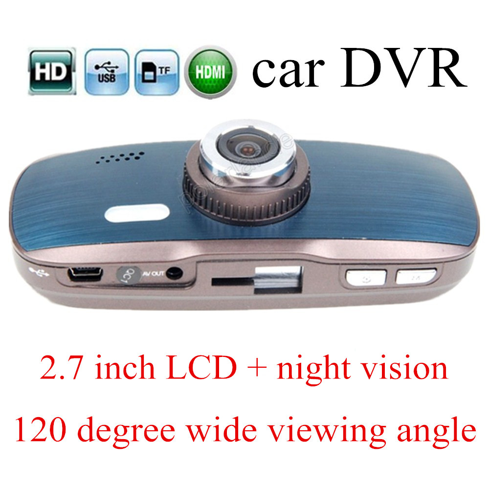 night vision Car DVR H200 HD Camera digital Video Recorder 2.7 inch auto camcorder dash cam 120 degree wide viewing angle