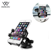 XMXCZKJ Car Mobile Phone Holder 360 Adjustable Windshield Phone Holder Mount With Large Suction Cup Universal For iPhone Samsung