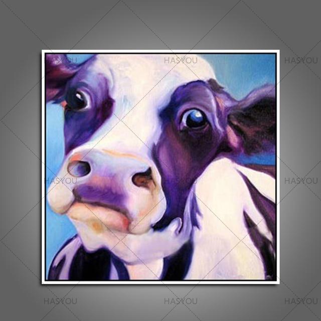 unframe kuh bilder 100 handgemalte abstrakte kunst auf leinwand wandkunst lgemlde fr wand und inneneinrichtungen