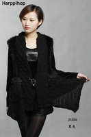 Fluffy Women Russian Cossack Rabbit Fur Knitted shawl Winter Warm NEW
