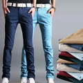 Hot-selling Men's Fashion Korean Style Slim Fit Pants Male Casual Mid-Rise High Quality Pants 6 Colors