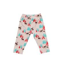 Милые длинные штаны для маленьких мальчиков и девочек; Новинка года; брюки с принтом; повседневные леггинсы-шаровары; брюки