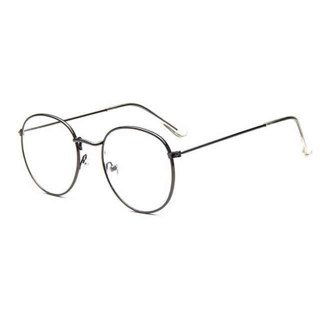 c25a6369b5 Vintage Retro Eye Glasses Frames For Women Men Big Round Frames Clear  Glasses Eyewear Optical Glasses