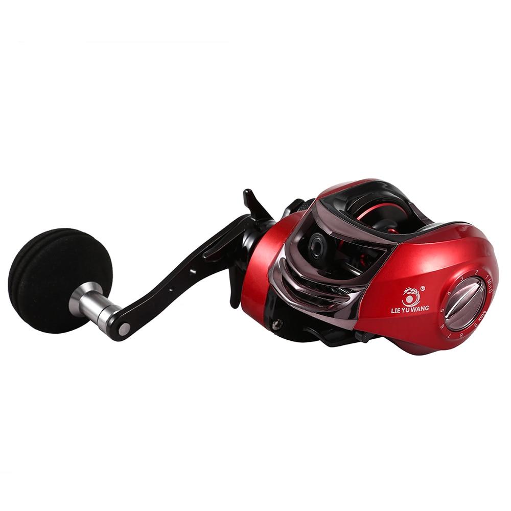 LIE YU WANG 13 + 1BB 6.3 : 1 Gear ratio Fishing Reel Left / Right Single Handle Baitcasting Fishing Wheel
