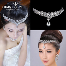 Hot Selling Teardrop Crystal Bridal Frontlet Hair Accessories Hair Jewelry Wedding Jewelry