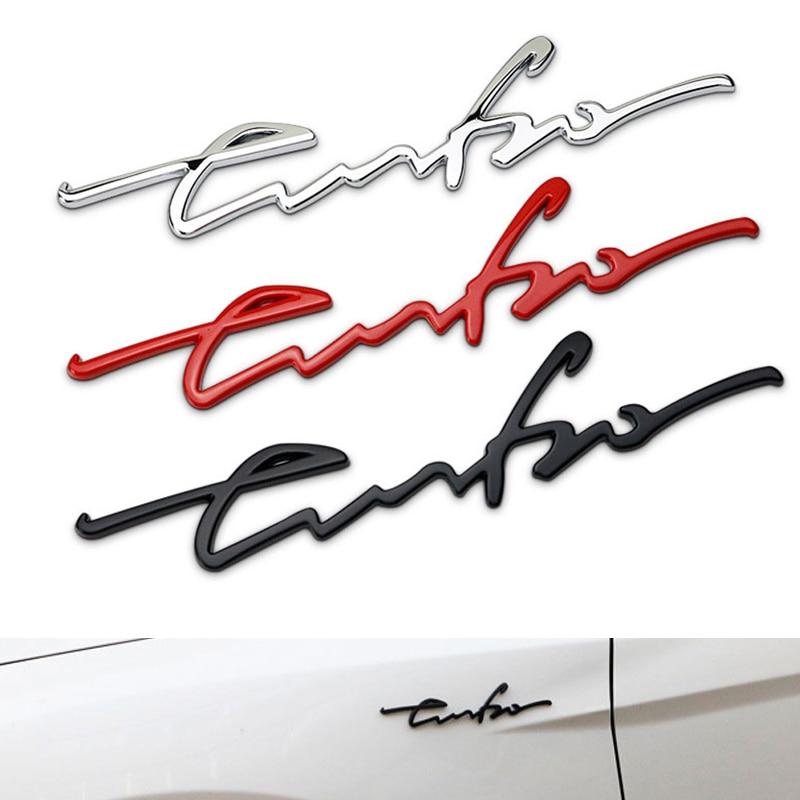 1Pcs Zinc Alloy Car Metal Chrome 3D Turbo Engine Rear Trunk Emblem Badge
