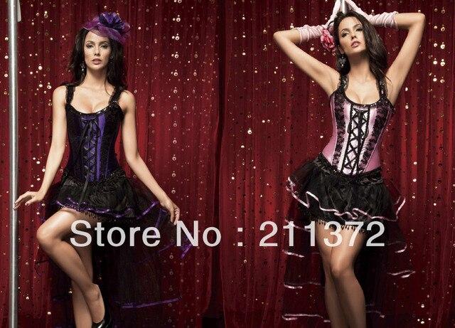 0b4a955a4 € 27.64 |Burlesque atractivo púrpura o rosa y negro corsé y Tutu falda del  vestido de lujo Corset Outfit en Bodis y corsés de Ropa interior y ...