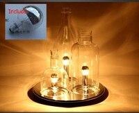 Современные светодиодные настольные лампы 3 шт. бутылки Столик Прикроватный светильник Стекло абажур украшения исследование офис лампе бю