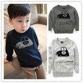 73-95 cm de altura Moda bebê roupas meninos Marca camisola do pulôver de algodão roupas fio camisola camisa básica top legal
