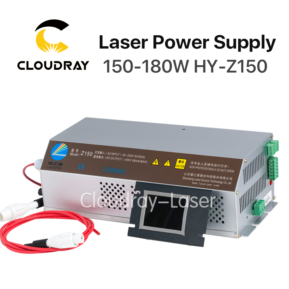 Cloudray 150-180 W CO2 Laser Alimentation Moniteur AC90-250V EFR Tube pour Laser CO2 Gravure De Coupe Machine HY-Z150 Z Série
