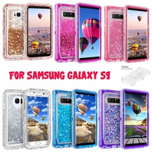 For Samsung Galaxy S9 plus Liquid Glitter Quicksand Protective Shockproof Case Cover