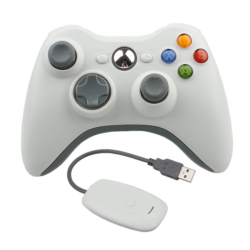 Hot sale Wireless Controller For XBOX 360 Games Joystick Gamepad Controller For Microsoft PC for Windows 7 8 Wireless Joystick in Gamepads from Consumer Electronics