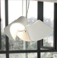 Креативная Люстра для детской комнаты в скандинавском стиле, персонализированная белая смола, современный минималистичный ресторан, лампы