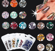 350pcs Mix Sizes Nail Art Non HotFix Rhinestone Crystal AB Color Flatback Glass Non Hot Fix Rhinestones Nail Decoration Crystal mix sizes opal colors crystal glass non hotfix flatback rhinestones strass nail art nails accessoires nail art decoration
