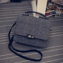 Woolen frauen tasche mode frauen handtasche trend umhängetasche kurze handtasche plaid kreuzkörper schulter tasche
