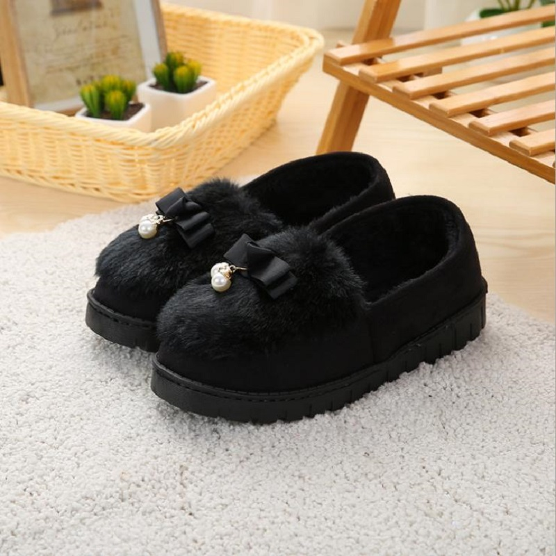Winter Slippers Women Home Warm Soft Fur Slippers Anti-Slip Home Shoes Foot Warmer House Slippers Fashion Cute Shoes New BDT1048 soft house slippers women men home shoes cute bedroom foot warmer japanese indoor slippers fur pantufa zapatillas casa chaussons