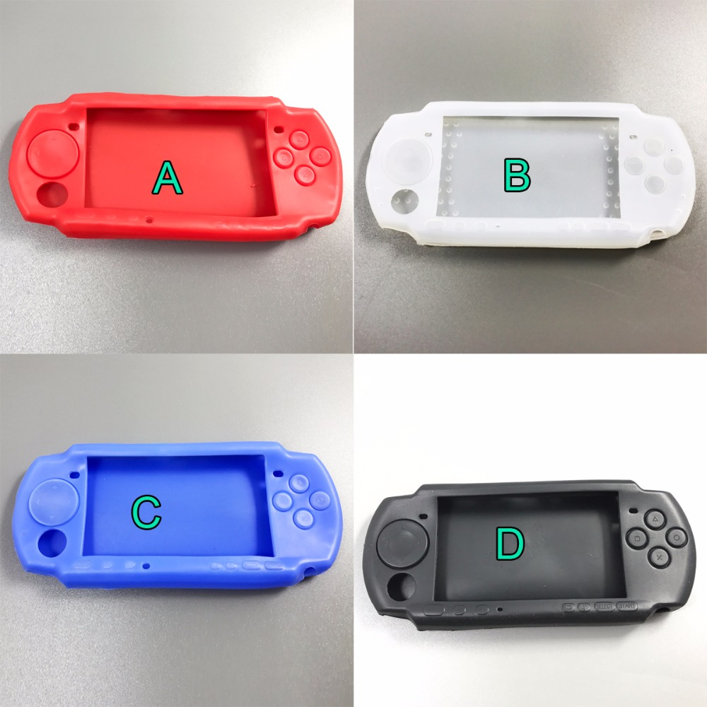 2X Top Selling High Standard Soft Silicone Case Protective Skin Case Cover For Sony For PSP 2000 3000 Slim Console Protector New image