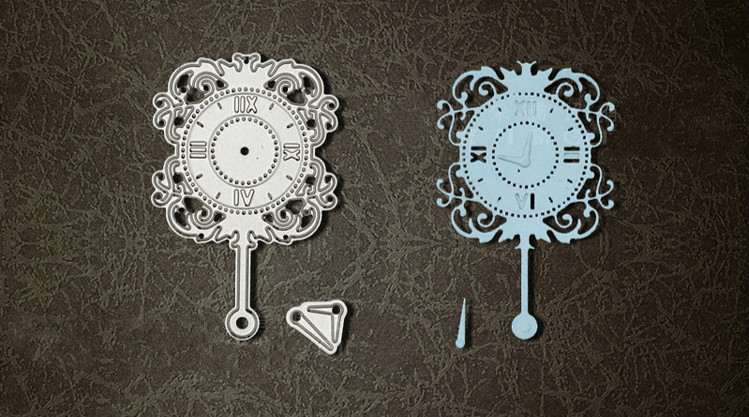 Metal Vintage wall clock Cutting Dies Stencils for DIY Scrapbooking photo album Decorative Embossing DIY Paper Cards kinds of flowers transparent clear stamps for scrapbooking diy silicone seal photo album embossing folder stencils supplies