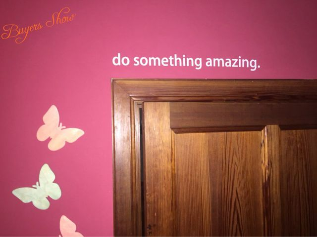 "do something amazing"" vinyl wall sticker quotes positive saying diy"