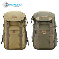 Winer Military Green Camera Video Bag Travel Backpack Waterproof Camera Case Bag For Canon EOS DSLR