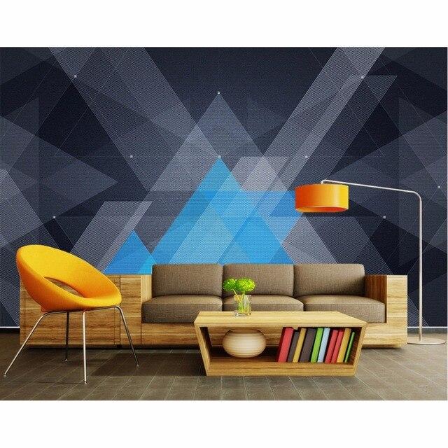 Tuya Art Modern 3D Future Technology Geometric Wallpaper For Office Meeting Room Living Bedroom Mural