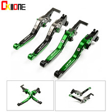 Motorcycle Folding Extendable CNC Moto Adjustable Clutch Brake Levers Up with logo Set For KAWASAKI ZX9R 2000-2003 2001 2002