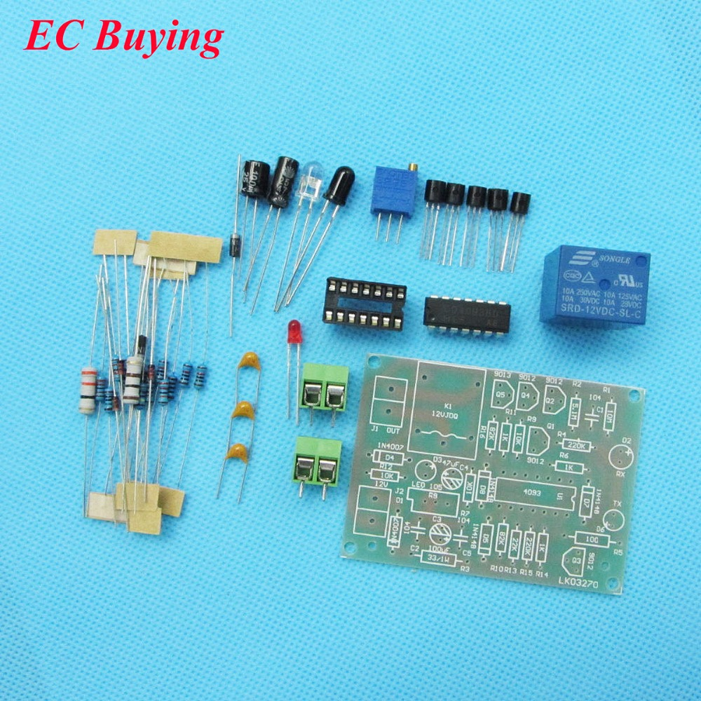 Diy Electronic Kit 5mm Led Einfache Flash Blue Light Circuit 1 5 Volt Flasher 3 Lm3909 Infrared Sensor Proximity Switch Automatic Control Fun Welding Practice Board Cd4093bd For