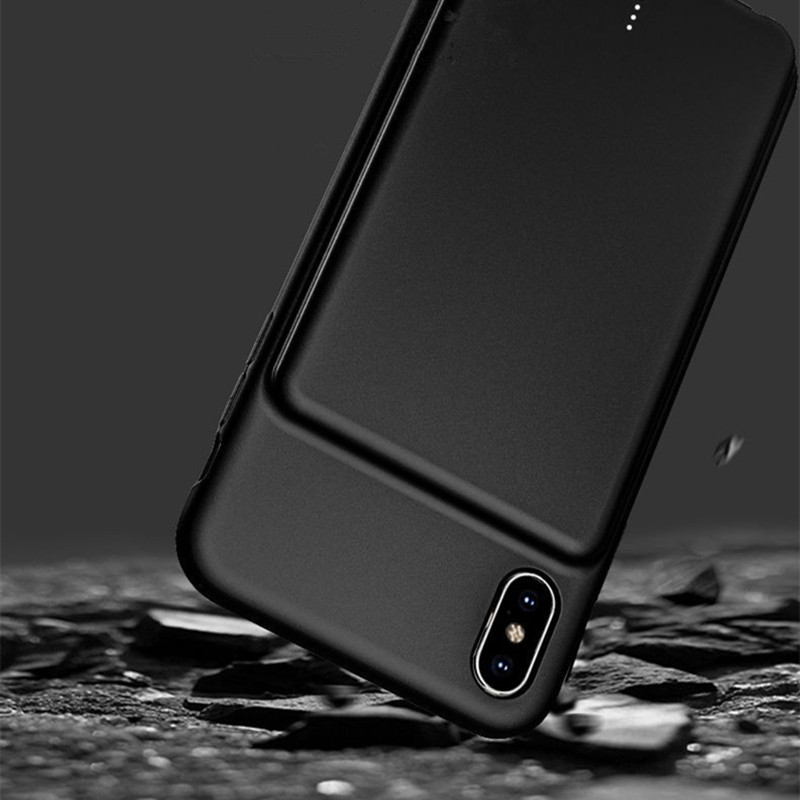 ZKFYS For iPhone XR Support Audio 5000mAh Portable Ultra Thin Fast Battery Charger Case External Power Bank Charging Case in Battery Charger Cases from Cellphones Telecommunications