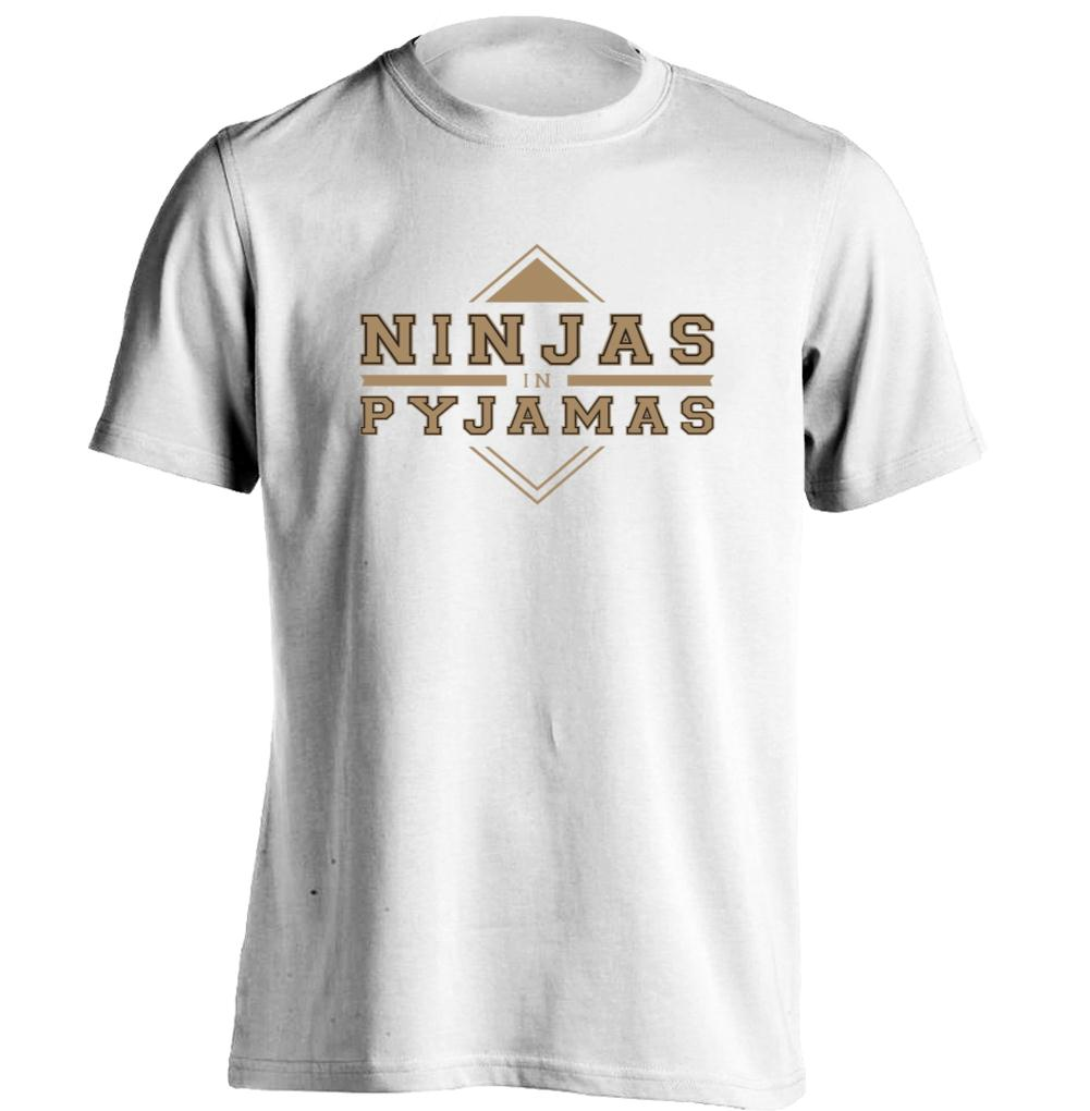 Printing T Shirt Ninjas in Pyjamas Fashion Cool Tee Mens & Womens Tee