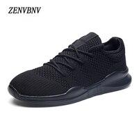 ZENVBNV Breathable Mesh Autumn Men Casual Shoes Lace Up Male Fashion Footwear Walking Fly Weaving Lightweight