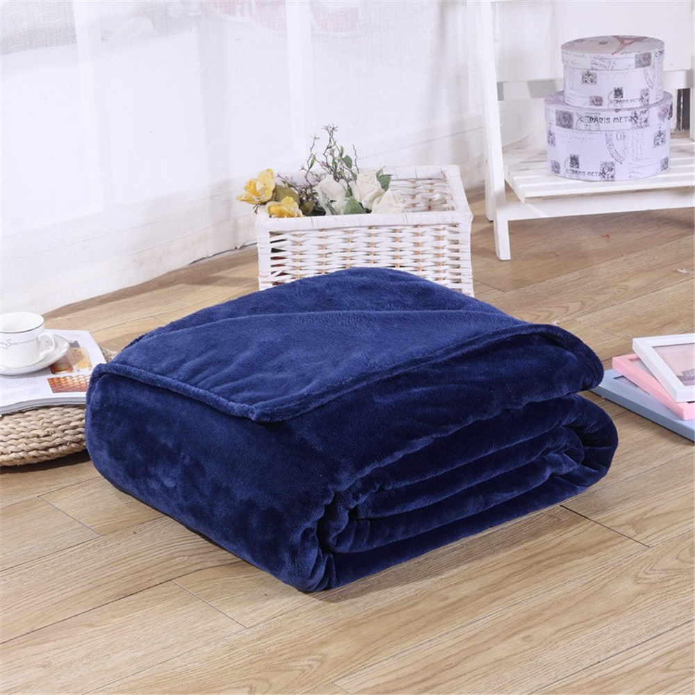 Super Soft Coral Fleece Blanket 220gsm Light Weight Solid Pink Blue Faux Fur Mink Throw Sofa Cover Bedspread Flannel Blankets-1