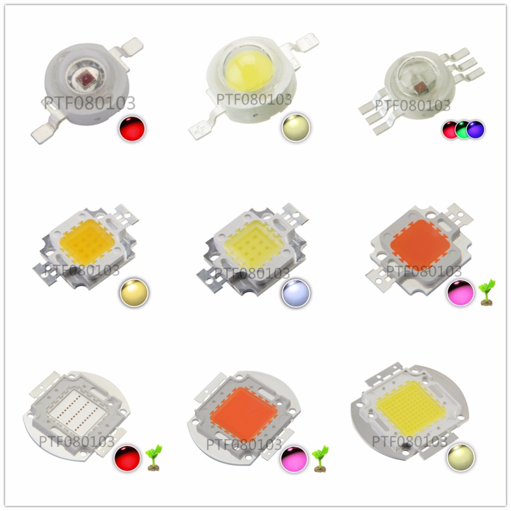 High Power <font><b>LED</b></font>-Chip 1 Watt 3 Watt 5 Watt 10 Watt 20 Watt 30 Watt 50 Watt 100 Watt COB <font><b>SMD</b></font> <font><b>LED</b></font> perle Weiß RGB Wachsen Volles Spektrum 1 3 5 10 20 30 50 100 Watt Watt image